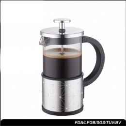 french press coffee maker Amazon Hot Sell 350ml Stainless Steel Glass Portable Coffee French Press
