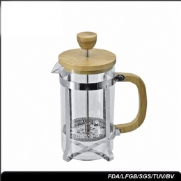 stainless steel french press 600ml custom small perfect french press coffee plunger with bamboo lid