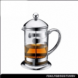 travel french press cold brew iced coffee and tea maker stainless steel coffee plunger
