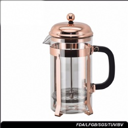 small french press 350ml 600ml Borosilicate Glass Electroplate Coffee Tea Maker French Press