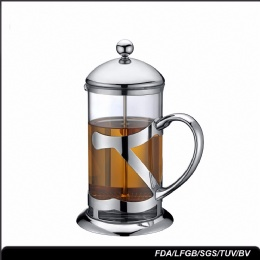 french press plunger Stainless Steel Coffee Maker Rose Gold Glass Travel Portable French Press