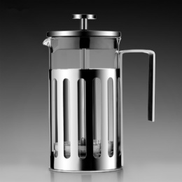Amazon Hot Sell 350ml 600ml 1000ml Stainless Steel Glass French Press Coffee Maker Portable Coffee French Press