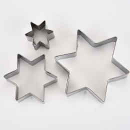 Star Shaped Stainless Steel Cookie Cutter sets Biscuit mold