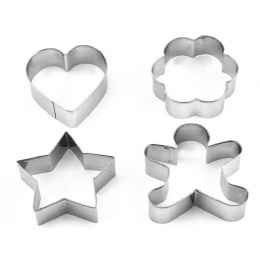 wholesale stainless steel heart shape love snacks cookie cutter