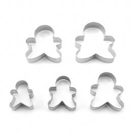 Baking Mould Flower Cutter 5pcs/set Stainless Steel Egg Mould Cookie Cutter Biscuit DIY Mold