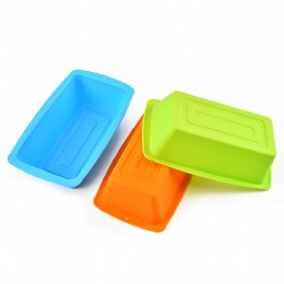 silicone square shape cake bread mold cookie Mold baking muffin cup cake mold