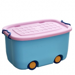 plastic storage bins Wheels Plastic Portable Function Storage Box For Collection Clothes Toys