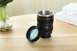best coffee tumbler 400ml hand camera lens shaped coffee mug