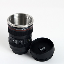smart water bottle Simulated Camera Lens Shaped Coffee Cup