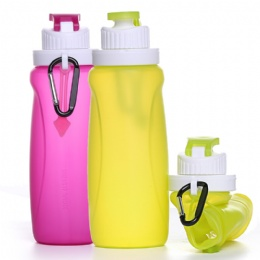 foldable water bottle Wholesale Outdoor Customized Logo Collapsible Water Bottle