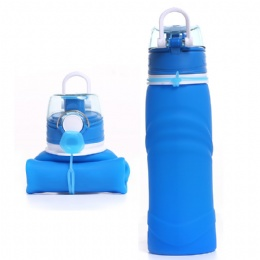 pink water bottle Sport Silicone Portable Collapsible Water Bottle for sale