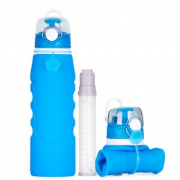1 litre water bottle Silicone Ultra Filtration Collapsible Water Bottle For Outdoors Activity