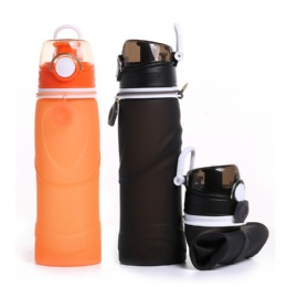 32 oz water bottle BPA Free Reusable Travel Sport Silicone Flexible Collapsible Water Bottle For Outdoor