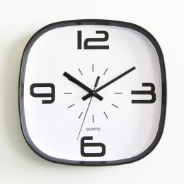Square Style Plastic Frame Digital Promotional Wall Clocks