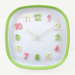 Nice Plastic Wall Clock For Kids Learning Time Wall Clock
