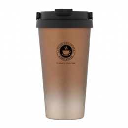 500ml double wall coffee travel mug stainless steel tumbler insulated coffee stainless steel mug with lid