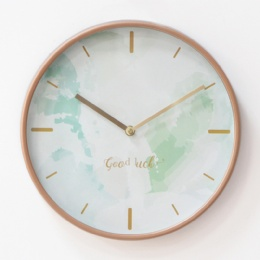 Home Decoration Simple Round Design 12 inch Cheap Plastic Wall Clock