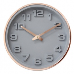 12 inch Dome glass creative aluminum frame wall Clock For Home Decor gift item